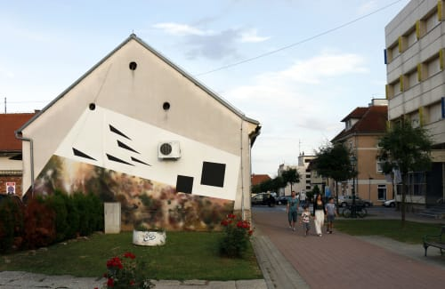 Street Murals by Nikola Mihajlovic - KORI seen at Bjelovar, Bjelovar - Dimensional cuts - 10.1