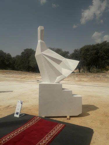 """Public Sculptures by Anna Korver seen at Riyadh, Riyadh - """"She 2019"""" Sculpture"""