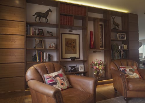 Furniture by 1718 seen at Private Residence, Brighton - Walnut TV Unit