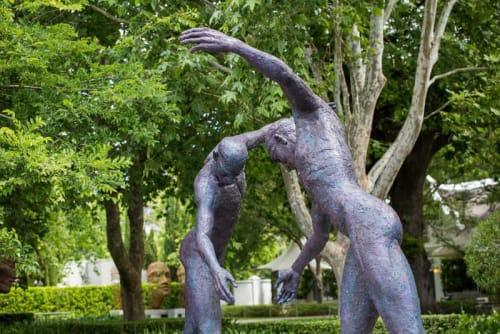 Public Sculptures by Anton Smit seen at Grande Provence Heritage Wine Estate, Franschhoek - The Walkingn Man
