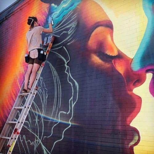 Intergalactic Cosmic Jelly Love | Murals by Julia Morgan (Aerose Art) | Embassy Tavern in Denver
