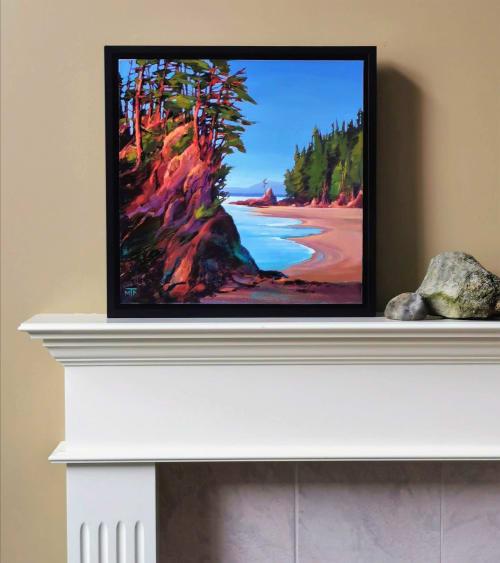 Paintings by Tatjana Mirkov-Popovicki seen at Gallery 88, Vancouver - Brady's Beach