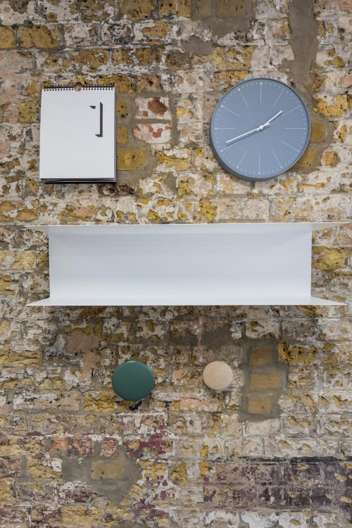 Wall Hangings by Lemnos seen at Central Working Victoria, London - Wood Clock