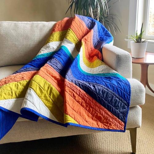 Linens & Bedding by Studio Prismatic seen at Creator's Studio, Portland - Refraction Quilt in 100% Organic Cotton