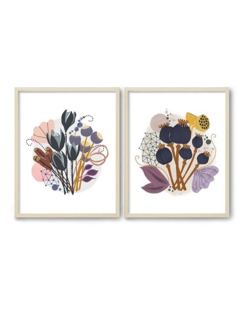 Paintings by Birdsong Prints - Scandinavian Modern Botanical Print, Mid Century Art, Set of