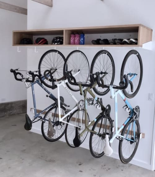 Furniture by Hagerman Works seen at Private Residence, Ojai - Bike Rack