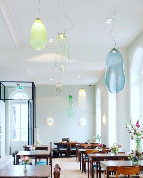 Pendants by Alex de Witte seen at Boutique Hotel De Witte Dame, Abcoude - The Big Bubble