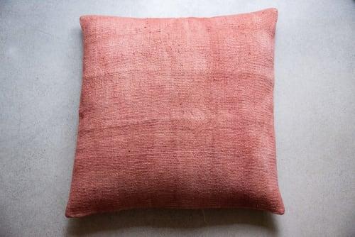 Pillows by Wayfarer seen at Private Residence, Topanga - Blush Medium Hemp Floor Pillows