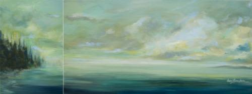 Paintings by Karen Lorena Parker Contemporary Art at Private Residence, Vancouver - Landscapes
