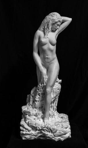 Sculptures by Dario Tazzioli seen at Frassinoro, Frassinoro - Progenie di Pyrrha