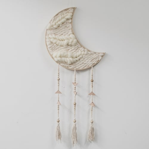 Wall Hangings by Mezcla Designs seen at Private Residence, Lemon Grove - Moon weaving
