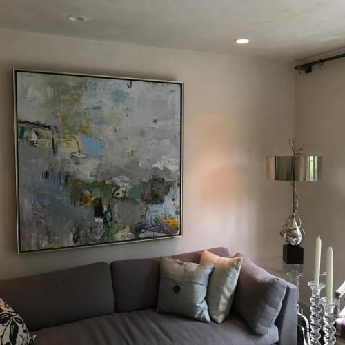Paintings by Katy Kuhn seen at Private Residence, Mill Valley - Abstract Painting