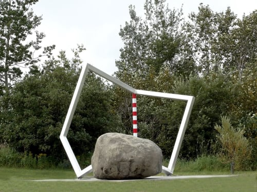 Sculptures by Thierry Ferreira seen at Sept-Iles, Sept-Iles - CUBICindustrie#61028021