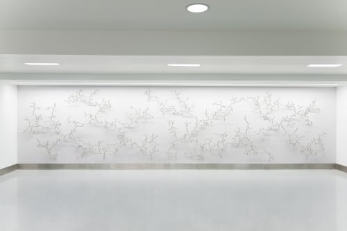 Murals by Loris Cecchini Studio seen at Cleveland Clinic Foundation, Cleveland - The Ineffable Gardener and the Developed Seed, 2013