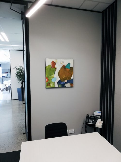 Paintings by Kirsty Black seen at RSM New Zealand (Auckland), Auckland - Desert Tumulus