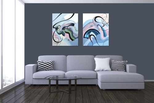 Paintings by Sandra Di Leo seen at Creator's Studio, Toronto - Just Like a Dream #2