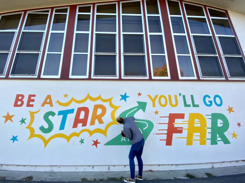 Murals by Everyday Hooray seen at Jackson Avenue Elementary School, Livermore - Jackson Elementary Mural