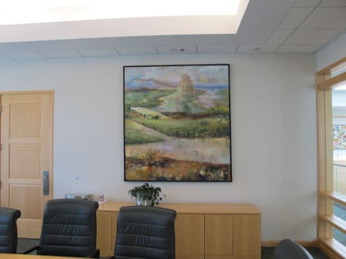 Paintings by Nedret Andre seen at Martignetti Companies, Taunton - Babel
