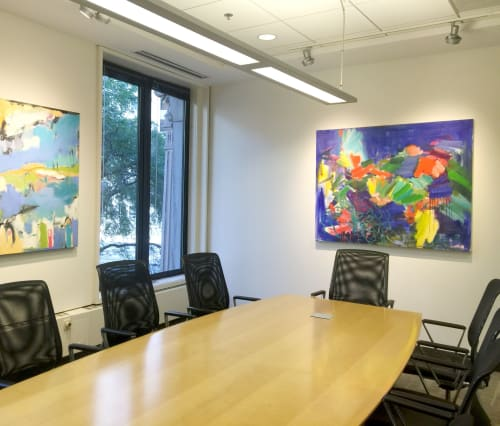 Paintings by Nedret Andre seen at Aureus Asset Management, Boston - Green Crab