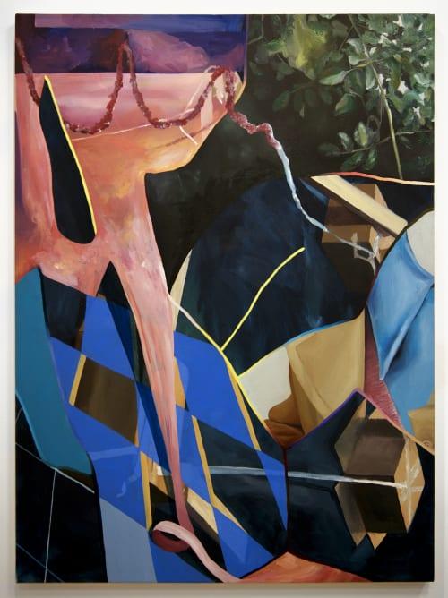 "Paintings by Amelia Midori Miller seen at Queens, Queens - ""Festoons"""