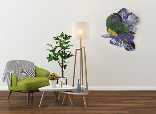 Art & Wall Decor by Sophy Tuttle seen at Private Residence, Lowell - Parrot Cut Out Wall Piece