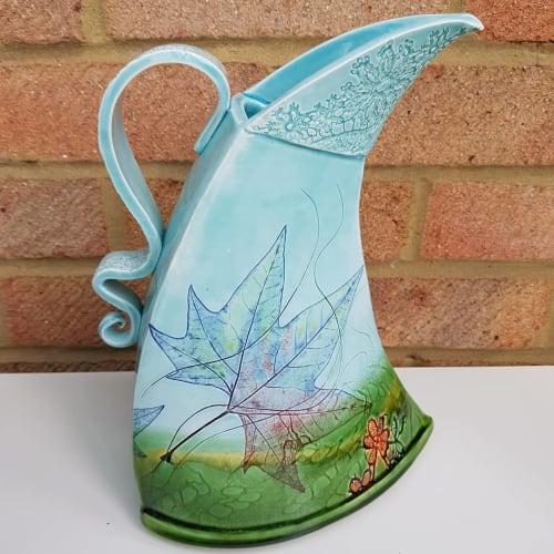 Vases & Vessels by Mary McFadden seen at Lullingstone Castle & The World Garden, Dartford - Maple Leaf Jug