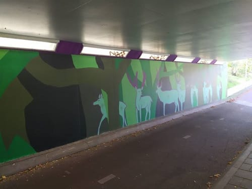 The Horned Mouse - Street Murals and Public Art