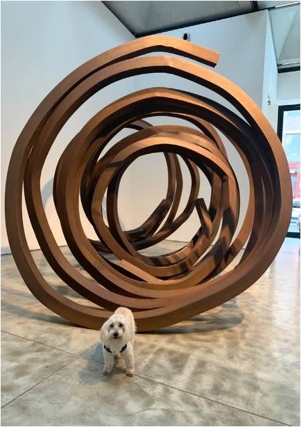 Sculptures by Bernar Venet seen at Kasmin Gallery, New York - Indeterminate Line
