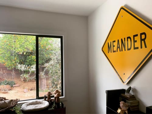 Signage by Scott Froschauer Art seen at Private Residence, Los Angeles - Meander