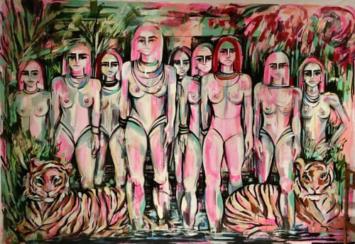 Paintings by Gretel Joffroy seen at Private Residence, Culiacán - GUERRERAS