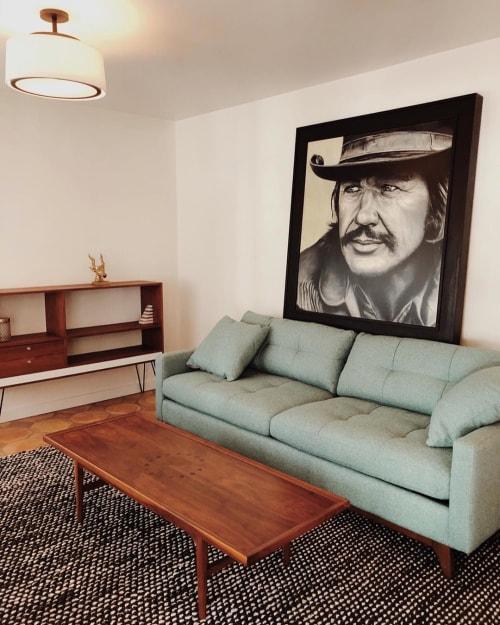 Paintings by Juan Casas seen at Villa Royale, Palm Springs - Charles Bronson