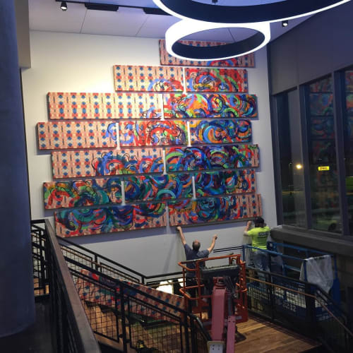 Paintings by Destiny Palmer seen at Aloft Boston Seaport District, Boston - Aloft Commission