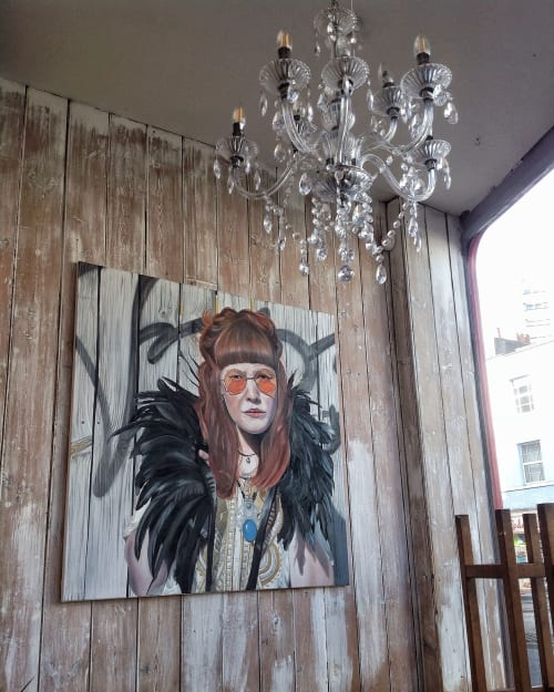 Paintings by Astrid Foreman seen at Philip Street, Bedminster - Denyer