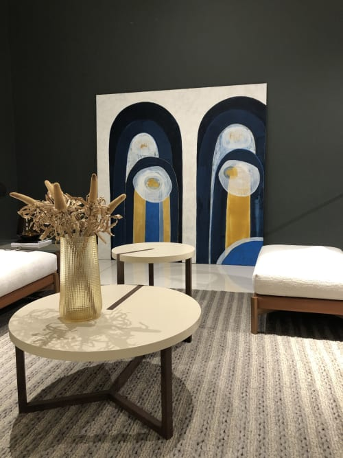 Paintings by Marcus Balmain seen at Private Residence, Black Rock - white arches