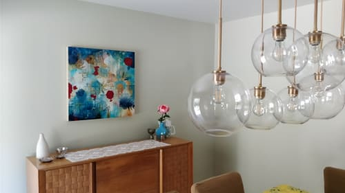 Paintings by Heather Robinson seen at Private Residence, Fairfield - Cross Dot Chrysanthemum Dream