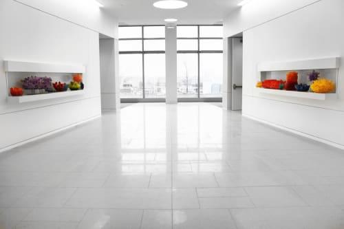 Sculptures by Carson Fox Studio seen at Eaton Corporation, Cleveland - Eaton Sculptures