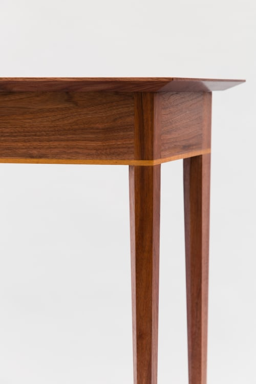 Tables by Evan Berding Custom Furniture + Woodwork seen at Private Residence, Durham - Entryway Table