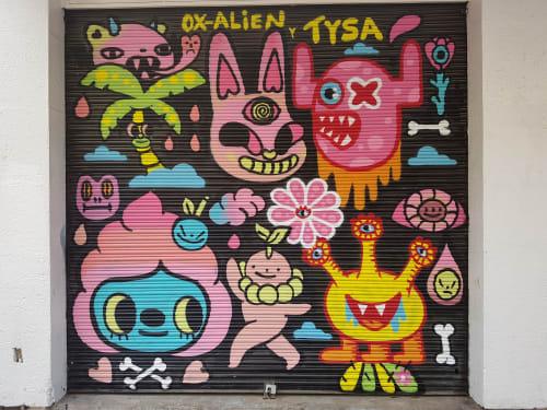 Shutter fun in Guadalajara | Street Murals by Ox-Alien | GUADALAJARA CENTRO in Guadalajara