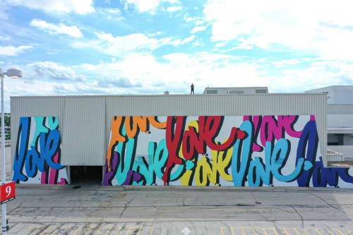 Street Murals by Ruben Rojas seen at Hawthorn Mall, Vernon Hills - Now & Forever