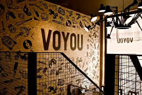 Interior Design by Myspaceplanner seen at 20 Rue Stanislas, Nancy - Voyou Burger