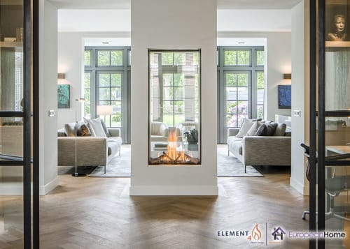 Fireplaces by European Home seen at 30 Log Bridge Rd, Middleton - Sky T See-Through Gas Fireplace