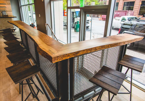 Furniture by Brian Chilton Design seen at Houndstooth Coffee, Austin - Coffee Bar & Stools