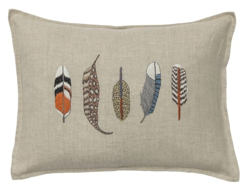 Pillows by Coral & Tusk seen at Private Residence - Feathers