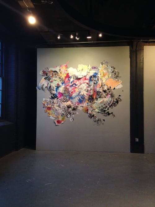 Art & Wall Decor by Natalie Flor Negrón seen at Icebox Project Space, Philadelphia - The storm (Hurucan)