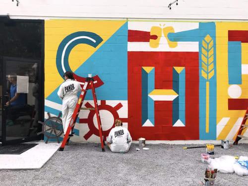 Murals by Adam Vicarel seen at Port Orleans Brewing Co., New Orleans - Port Orleans Brewing Mural