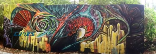 Murals by Max Ehrman (Eon75) seen at Private Residence, Gainesville - Time to Dream is Over