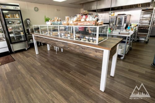 Furniture by 40 North Designs seen at Fresh Thymes Marketplace, Boulder - Custom Bakery Case