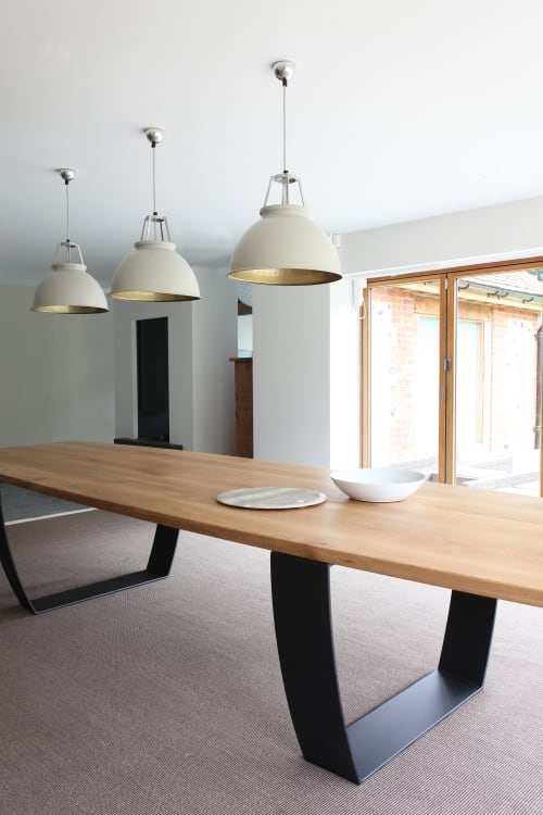 Bespoke oak/Steel dining table | Tables by Design by Timber