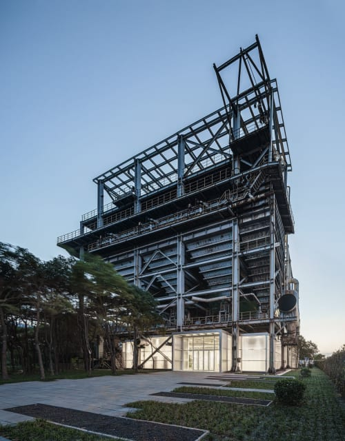Architecture by Kokaistudios seen at Shanghai - Baoshan WTE Exhibition Center
