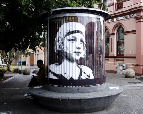 Street Murals by Mandy Schöne-Salter seen at Newtown, Newtown - Newtown Art Seat 2018